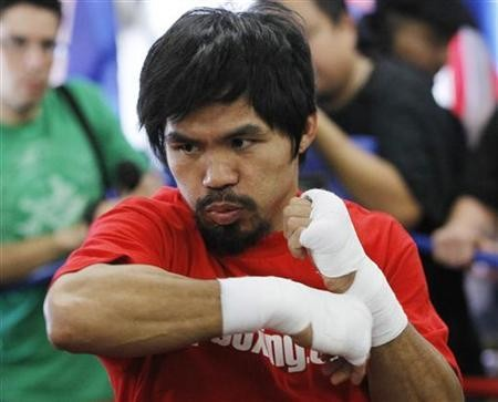 Manny Pacquiao in training