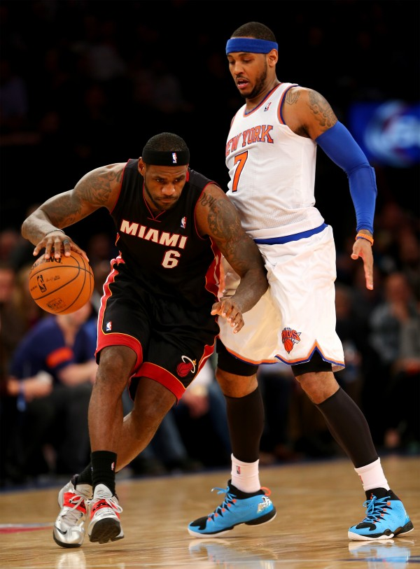 Carmelo Anthony and LeBron James