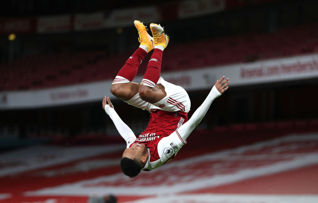Aubameyang Ends Scoring Drought With a Brace To Pull