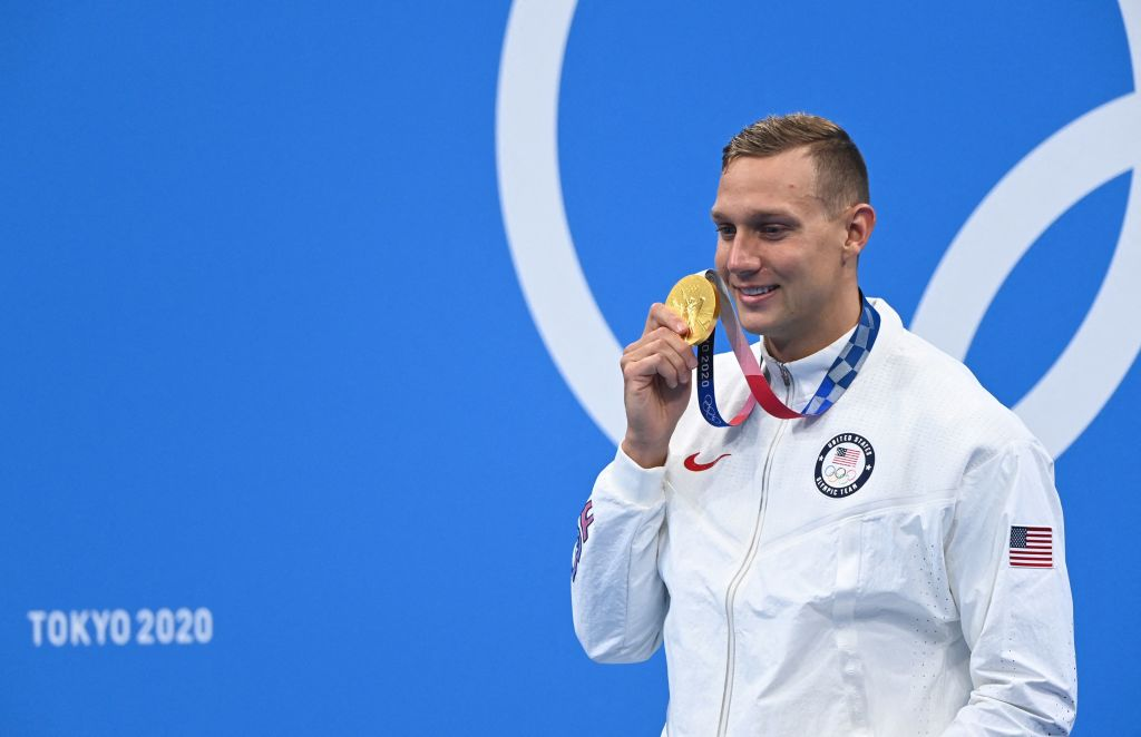 Caeleb Dressel Finally Wins Individual Gold in Tokyo Olympics; Sets Record in 100-Meter Freestyle