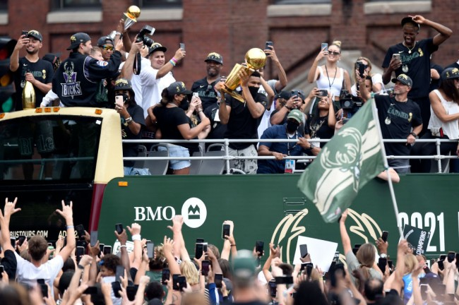 Milwaukee Bucks Celebrates First NBA Title in 50 Years With Championship Parade